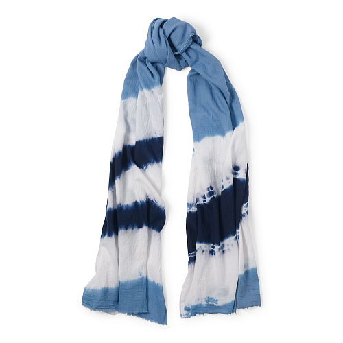 Tie Dyed Cotton Twill Scarf 87041756