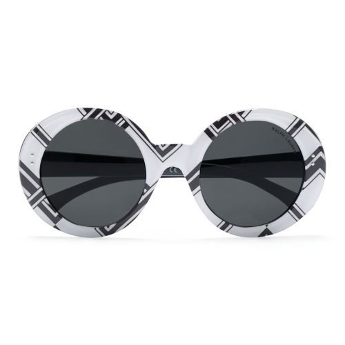 Round Pinstriped Sunglasses 32800586